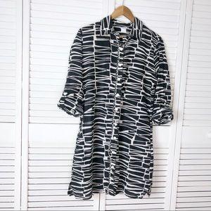 Trina Turk silk & cotton shirt dress